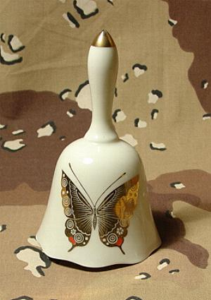 Hand Bell with Butterfly